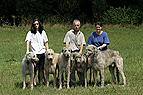 Familie mit Irischen Wol..